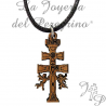 Pendant Cruz de Caravaca Made of wood
