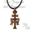 Pendentif Cruz de Caravaca Fait de bois
