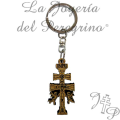 Key chain Cruz de Caravaca Made of wood