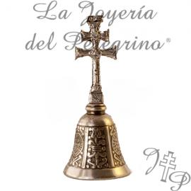 CAMPANA CRUZ DE CARAVACA PLATEADA