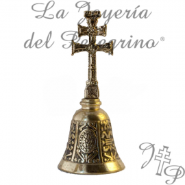 CAMPANA CRUZ DE CARAVACA DORADA
