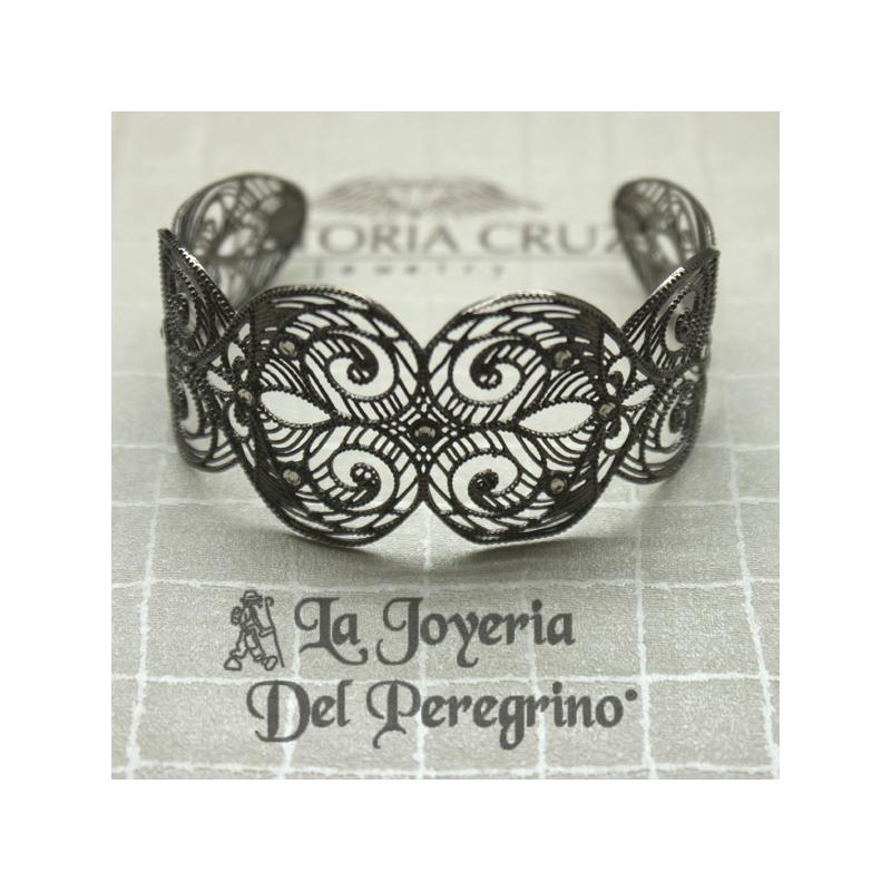 133b67e1d348 BRAZALETE PLATA DE LEY ENVEJECIDA - La Joyería del Peregrino
