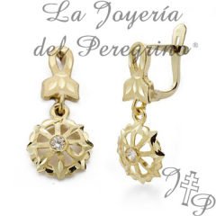 GOLD EARRINGS 18 K.