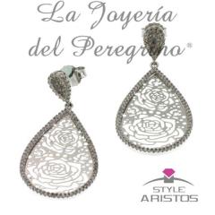 PENDIENTES PLATA DE LEY STYLE ARISTOS