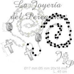 ROSARY SILVER PEARL P 14000