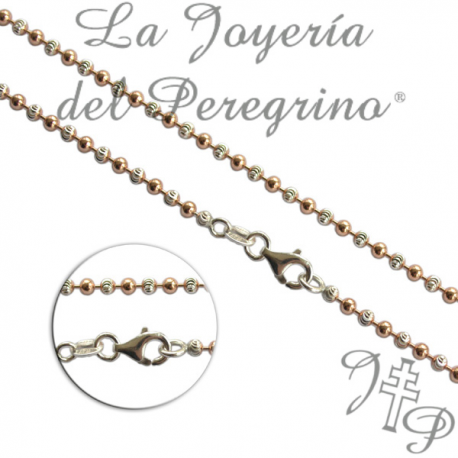 TWO-TONE CHAIN GOLD AND RHODIUM PLATED 2MM