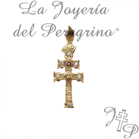 CRUZ DE RELIEVE DE ORO 9 KLT