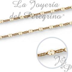 CADENA DE ORO DE LEY 18 KILATES 40 CMS 1.3 MM