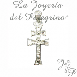 CRUZ DE RELIEVE DE PLATA DE LEY