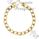 SOLID BARBED YELLOW GOLD BRACELET 8MM 22CM