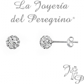 CRYSTAL BALL EARRINGS