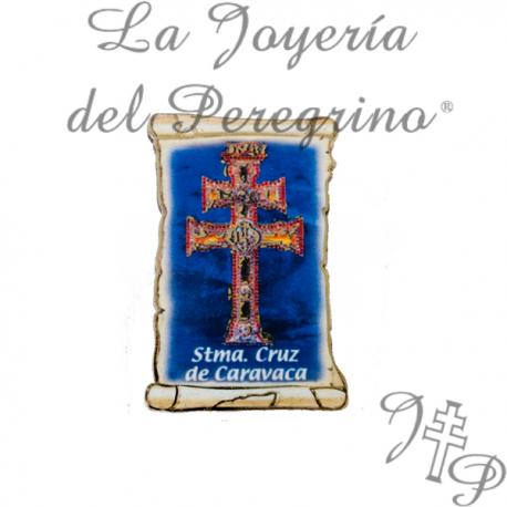 PARCHMENT MAGNET CROSS CARAVACA