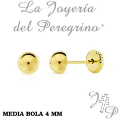 PENDIENTES MEDIA BOLA 4 MM
